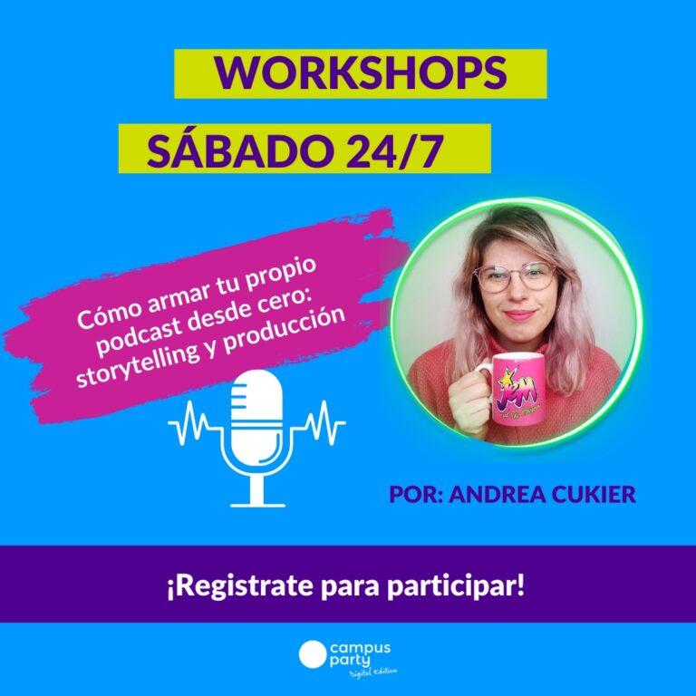 Workshop de podcasts en Campus Party Digital Edition